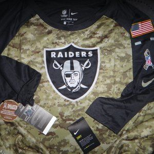 NIKE OAKLAND RAIDERS NFL SALUTE TO SERVICES RAGLAN